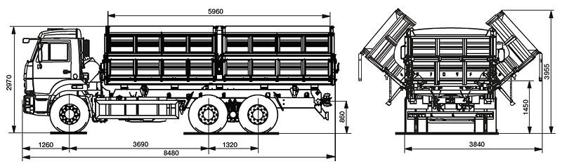 Схема КАМАЗ 45144